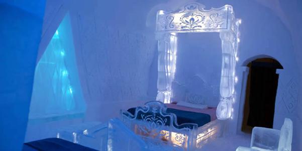 suite Frozen hotel ghiaccio