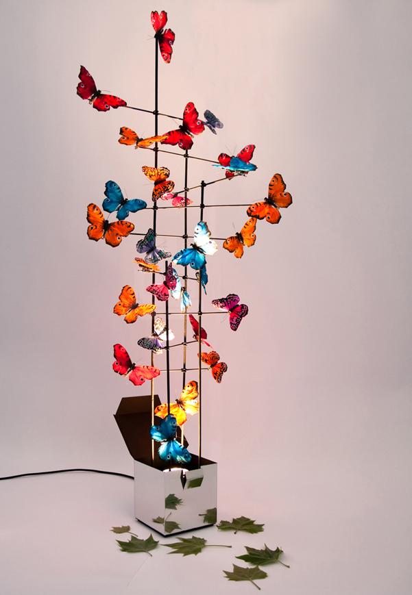 Lampada di farfalle di ingo kalecinski - Lampada luna ikea ...