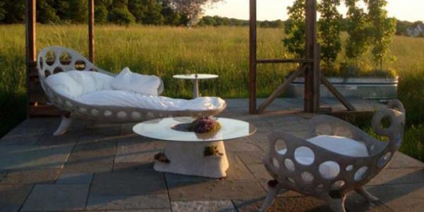 Mobili da giardino in cemento opiary for Ballard progetta mobili da giardino