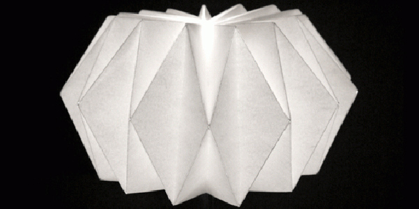 lampada origami fai da te