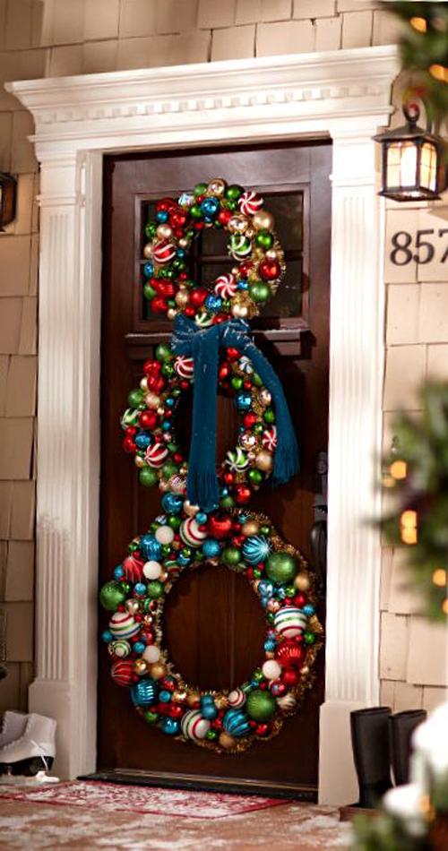 Idee natale 2014 come decorare la porta for Decorare la porta dell aula