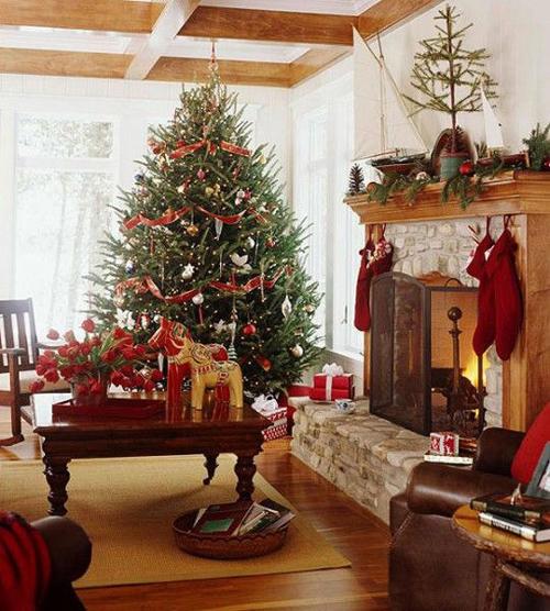Pinterest Home Decor 2014: Idee Decorazioni Natalizie: Addobbi Oro E Rosso