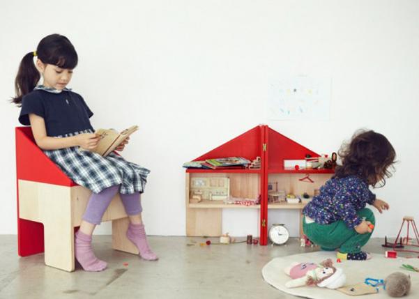 Casa di bambola di legno che diventa sedia - Ikea casa bambole ...