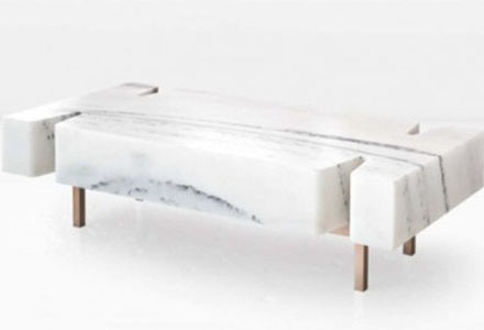 Coffee table in marmo