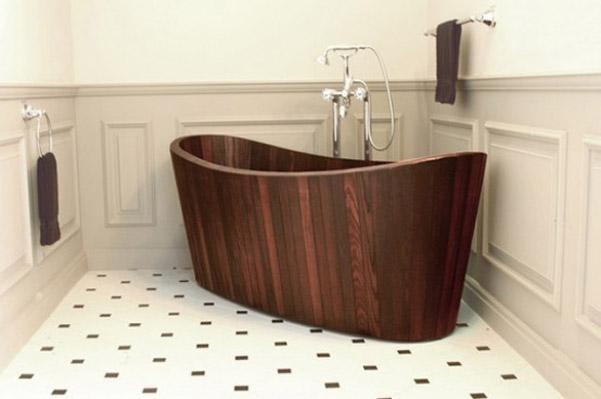 Vasche da bagno in legno artigianali di khis bath - Immagini vasche da bagno ...