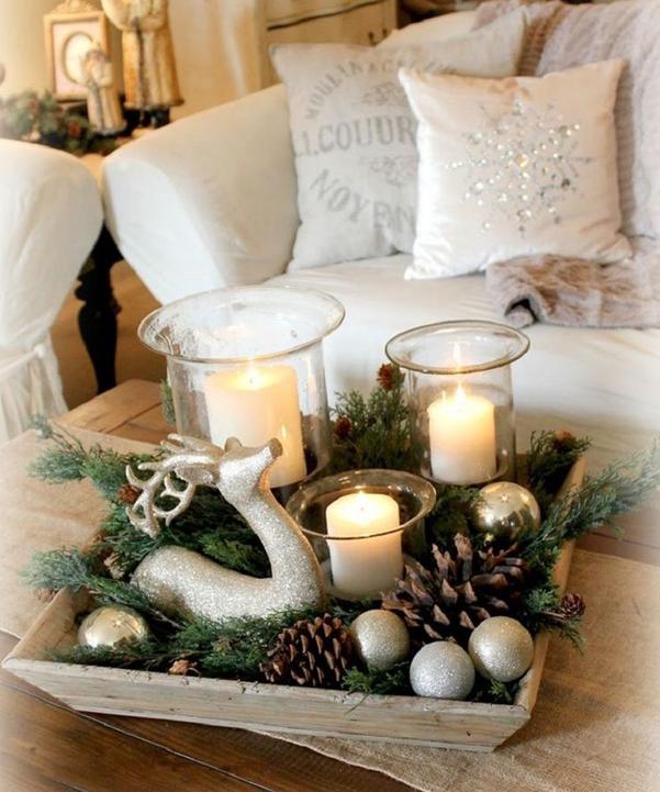 Idee decor centrotavola natalizio con le candele - Candele decorative ikea ...