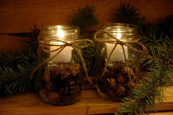 Centrotavola natalizio candele 10 - Candele decorative ikea ...