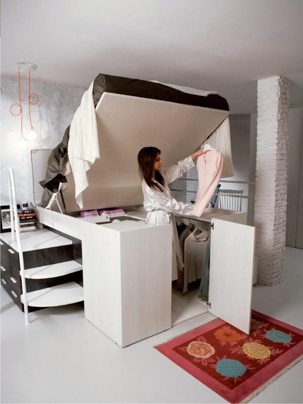 Armadio Nascosto : Il letto con armadio nascosto di dielle designbuzz