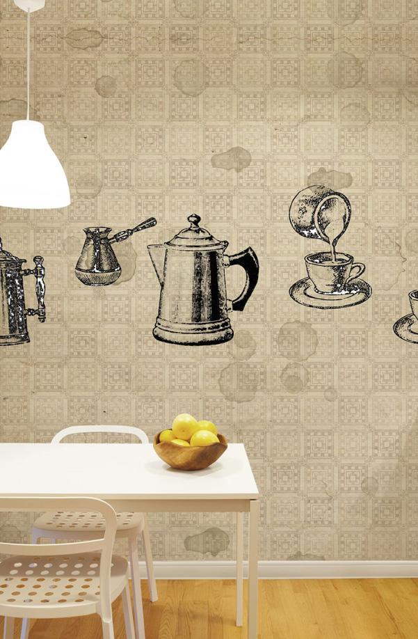 Decorazioni murali wallpepper per la cucina - Decorazioni murali per cucina ...
