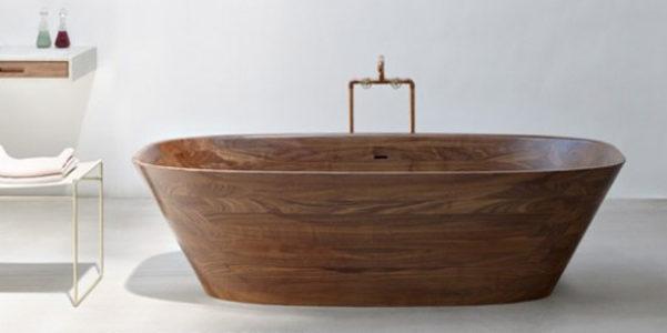Vasche da bagno in legno a casa come in una spa - Vasche da bagno ovali ...