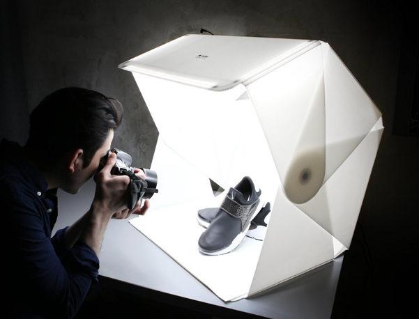 Studio fotografico portatile foldio 3 designbuzz.it