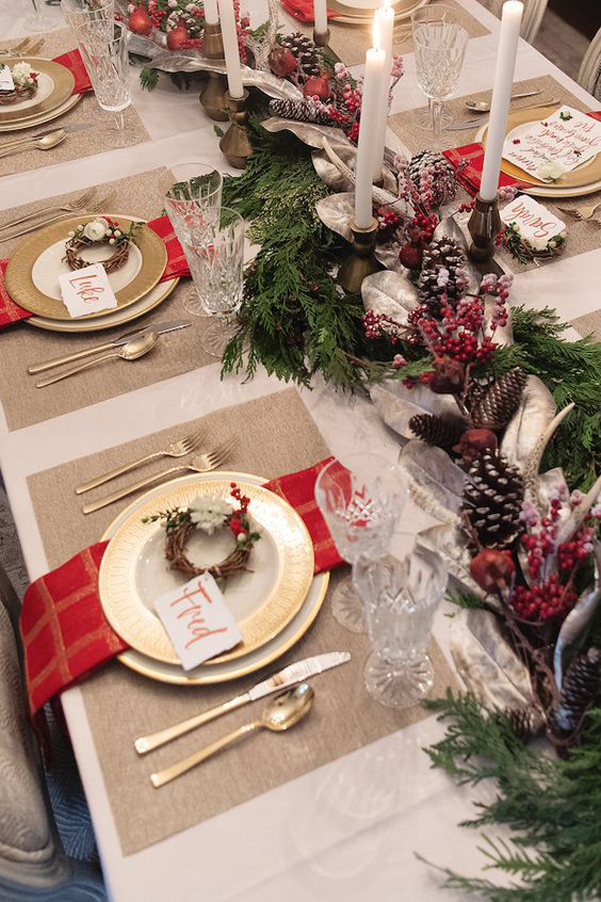 Idee decor tavola natale 2017 05 for Tavola natale 2017