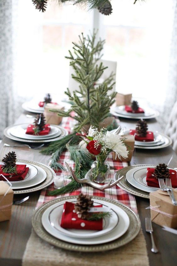 Idee decor tavola natale 2017 08 for Tavola natale 2017