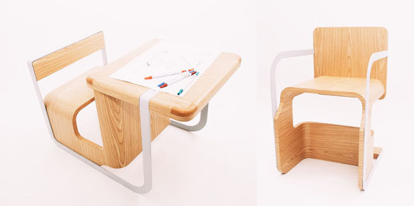 Wonder chair la sedia che si trasforma in scrivania for Sedia scrivania design