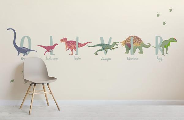 La carta da parati per bambini con i dinosauri di for Carta da parati bambini ikea