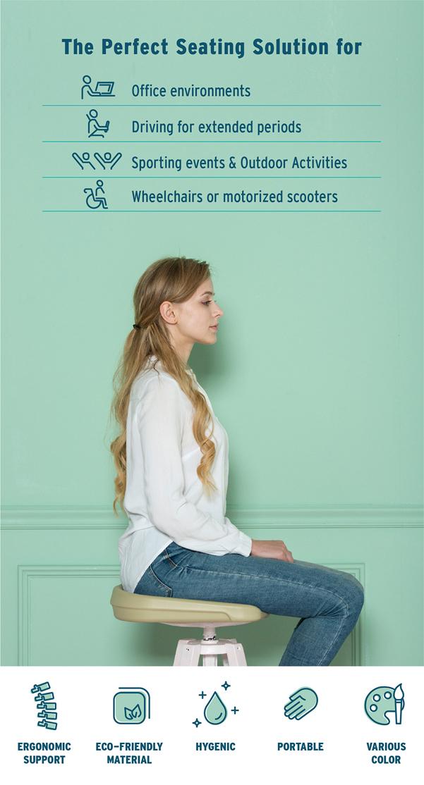 Cuscino Eva per una seduta ergonomica ovunque tu sia ...