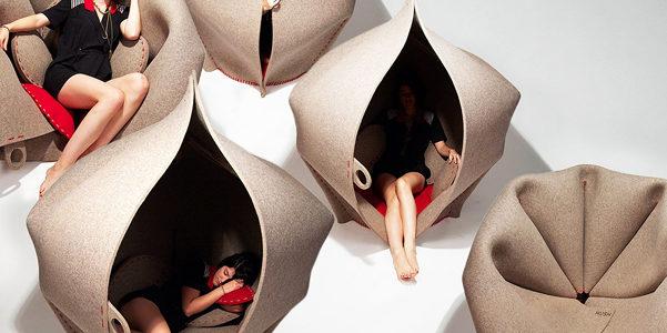 Si chiama Hush la nuova poltrona cocoon di Freyja Sewell