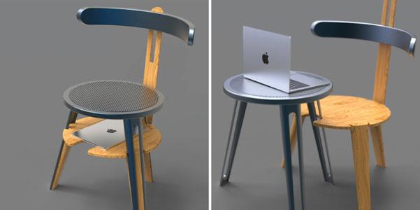 Dual, sedia e tavolino insieme